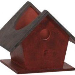 """7.5"""" Red Birdhouse"""
