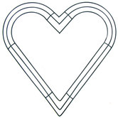 Double wire Heart Wreath form