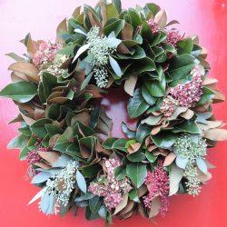 Magnolia, Hydrangea, Eucalyptus, Pepperberry Wreath