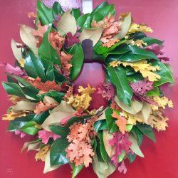 Magnolia and Oak Wreath