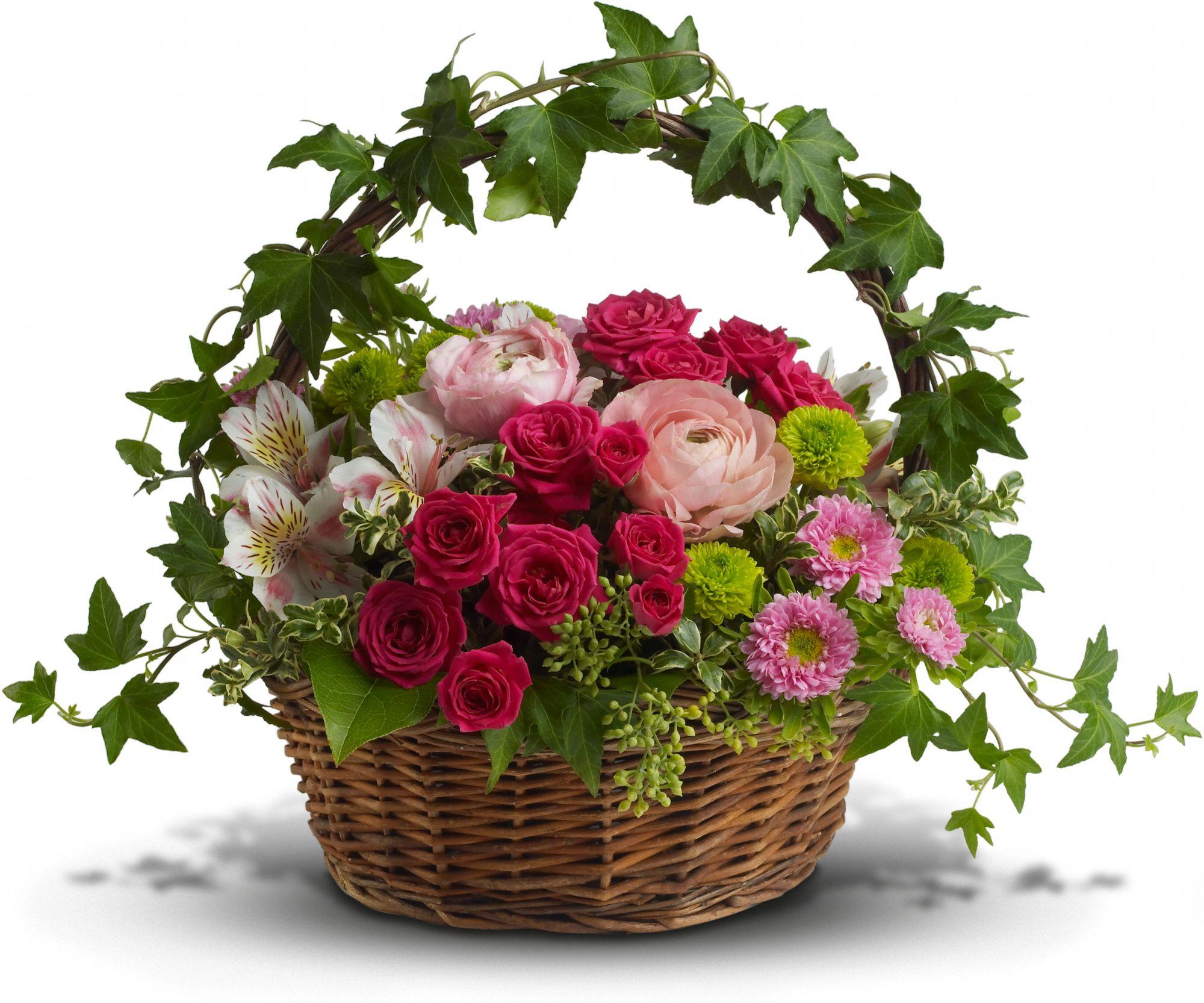 Easter basket arrangement sequoia floral