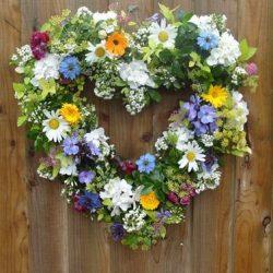 fresh flower wreath june 24th