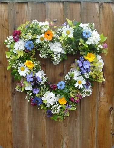 fresh flower wreath june 24th