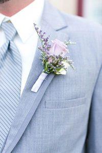 lavender boutonniere august 12