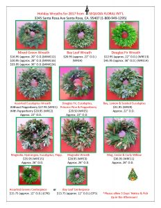 Holiday Wreaths Flyer for 20171