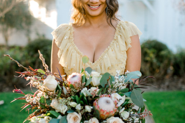 Nadira with bouquet